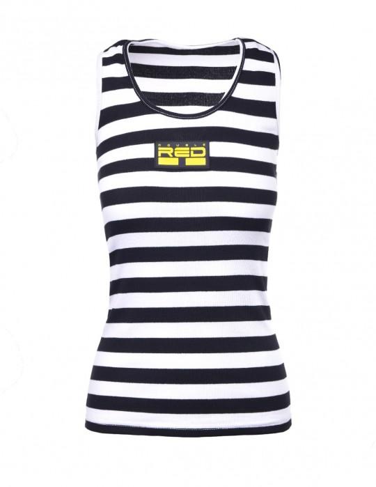 Tank Sportisyourgang BlackWhite 3d Neon Logo Yellow