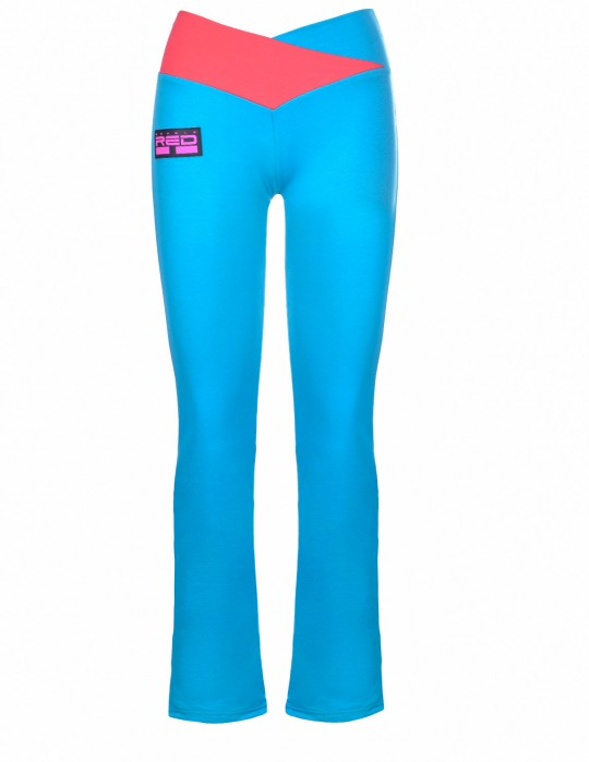 Leggins SPORT IS YOUR GANG Geometric 3D Logo Blue/Pink