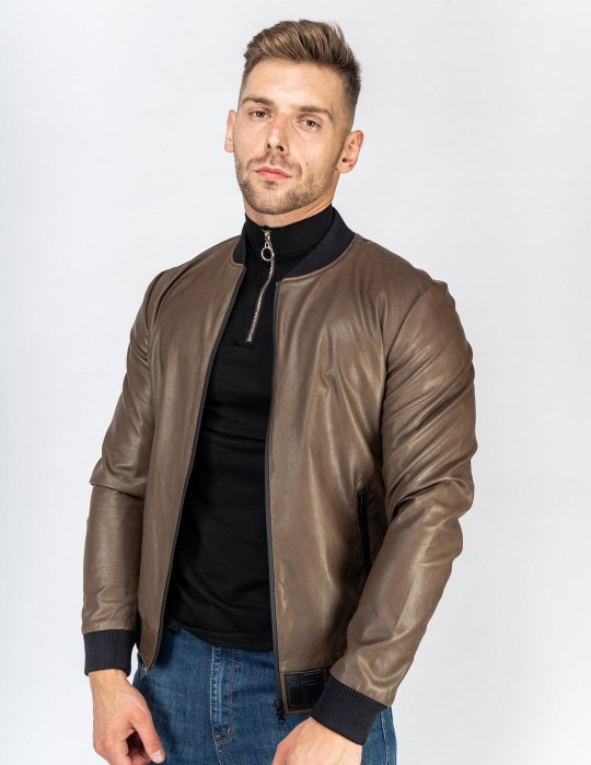 SOPRANO Leather Jacket Brown