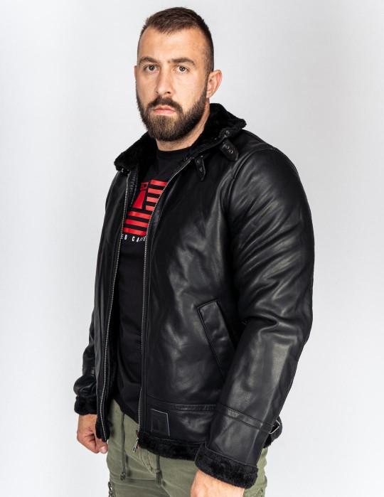 MAGNUS Leather Jacket Black