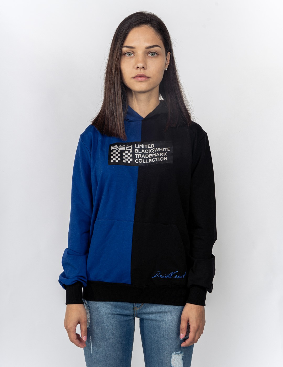 Hoodie DOUBLE FACE NEON Streets Collection Blue/Black