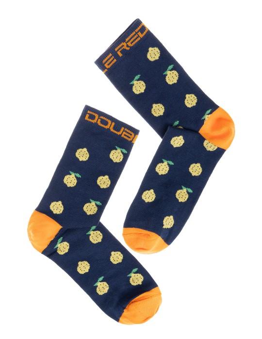 DOUBLE FUN Socks Lemon