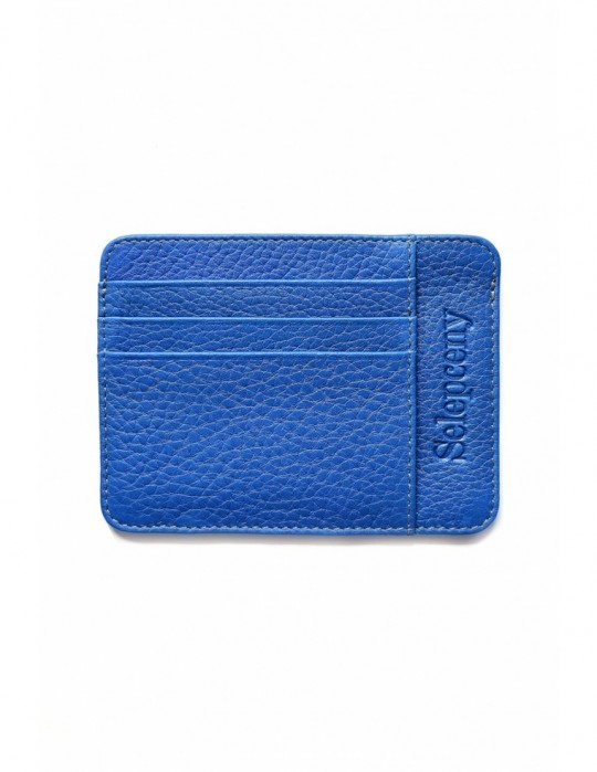 SELEPCENY LIGHTBLUE 100% GENUINE LEATHER CARDHOLDER