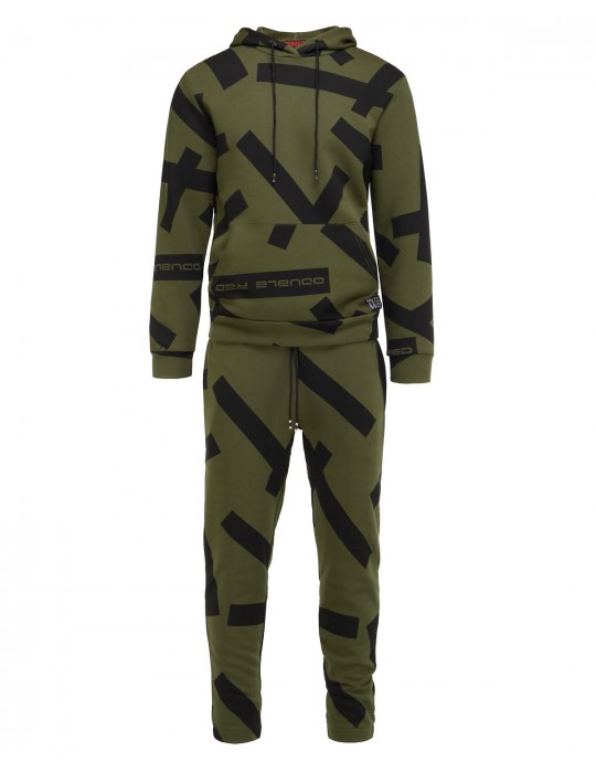 GEOMETRIX Dark Green Tracksuit