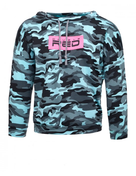 Hoodie Neon Streets Collection Blue Camo