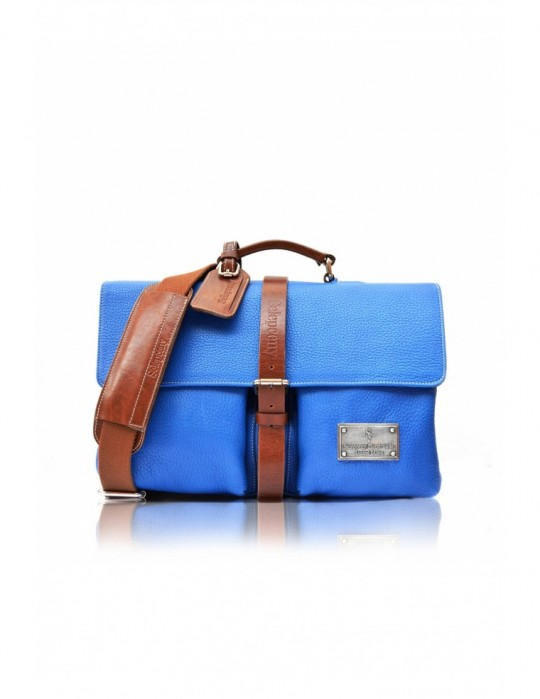 SELEPCENY SIGNATURE ALTER BLUE HANDMADE 100% GENUINE LEATHER BAG