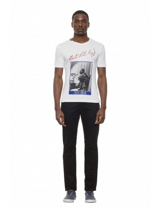 M.L.KING SCREEN-PRINTED SUPER-SOFT STRETCH COTTON T-SHIRT Selepceny