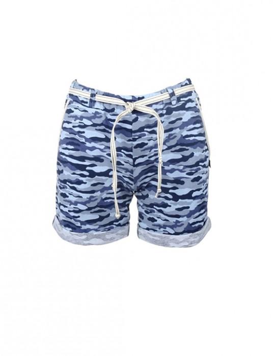 DR W Blue Camo Shorts