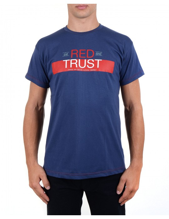Modré tričko In Red We Trust
