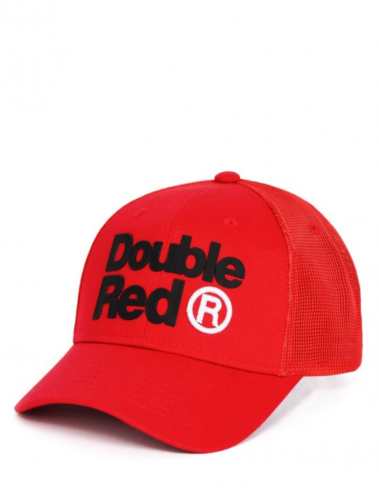 DOUBLE RED Trademark Trucker Kappe Red