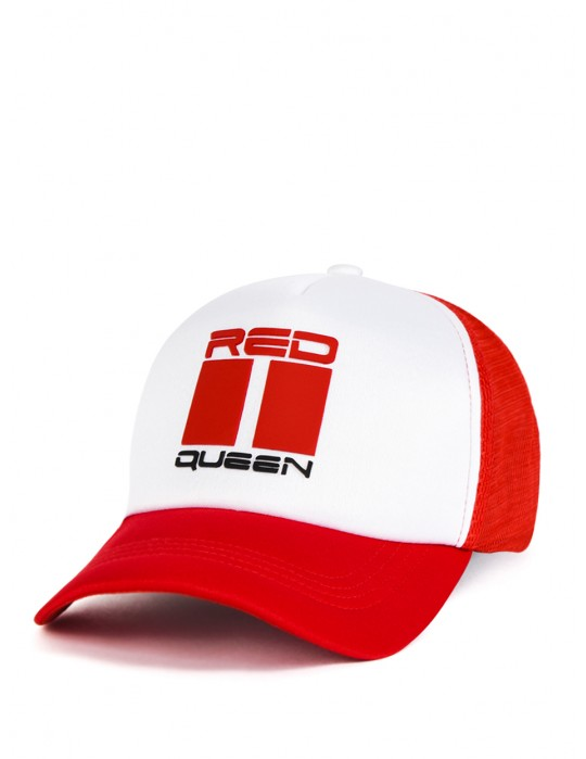 DOUBLE RED QUEEN Trucker Cap Red/White