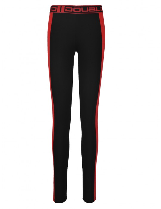 RED LEGGINS Black/Red