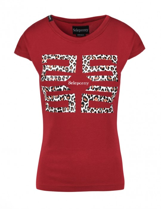 SELEPCENY BASIC RED COTTON T-SHIRT ANIMAL