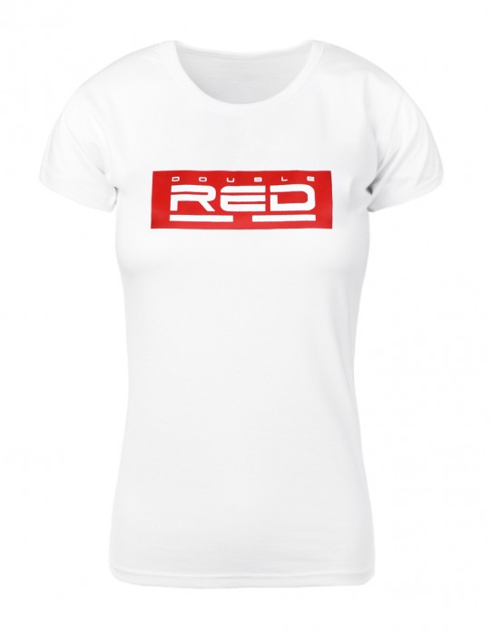 White T-shirt BASIC DOUBLE RED red