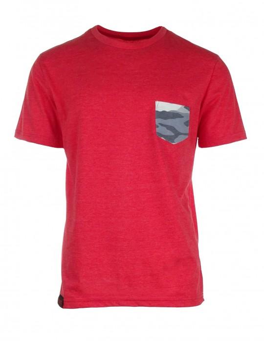 Lososové tričko Camo pocket
