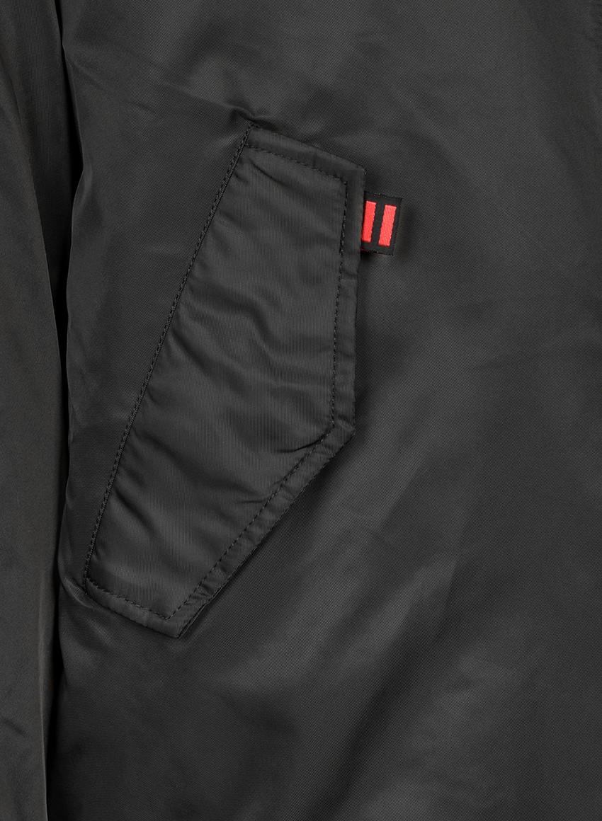 THE PUNISHER Long Size Bomber Jacket Black