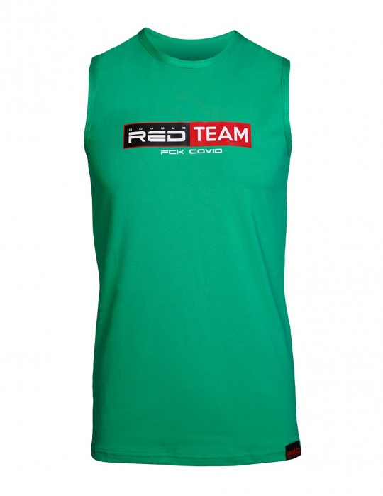 FCK Covid RED TEAM Tank Top Green