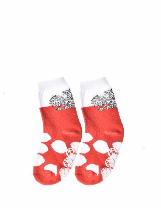 KID Fun Socks Antislip Red / White