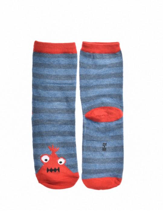 KID Fun Socks Stripes Red Monster