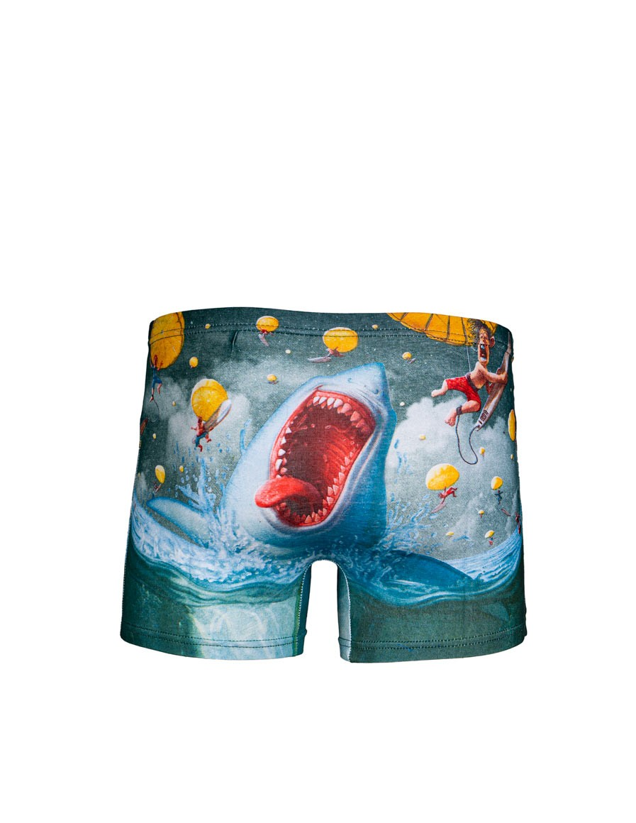 2FUN Boxers Mad Shark Green