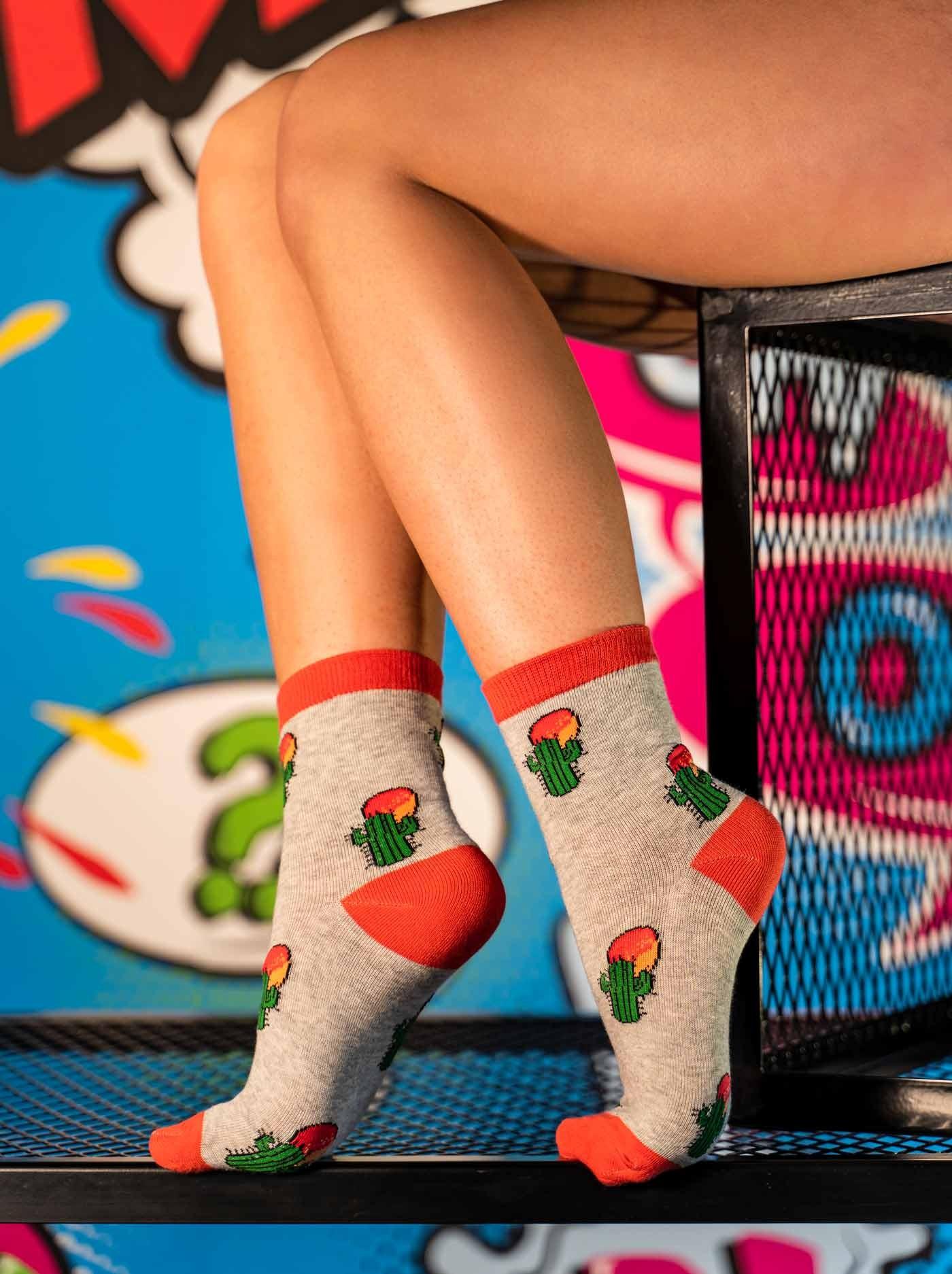 Women's FUN Socks Cactus