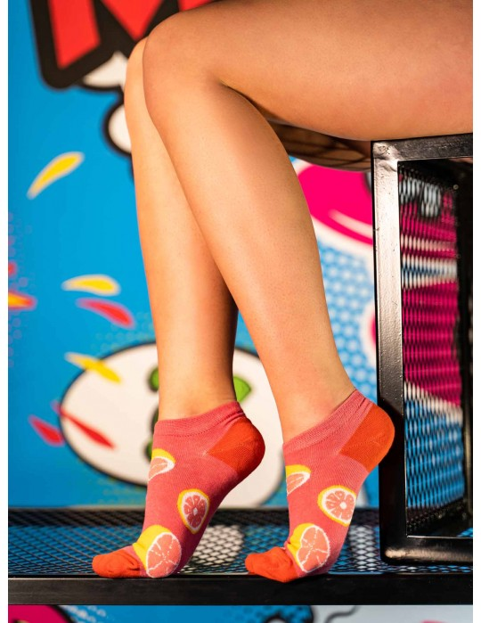 Women's Low Cut FUN Socks Grapefruit